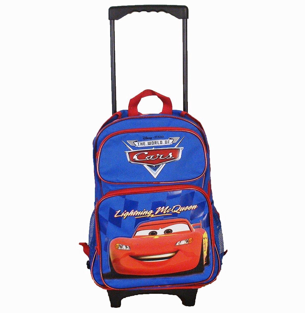 ff25d5b459c6 Get Quotations · Disney Car Roller Backpack 16