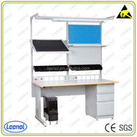Adjustable electrical work table for motherboard repair and test