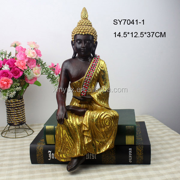 Polyresin White Thai Buddha Statue For
