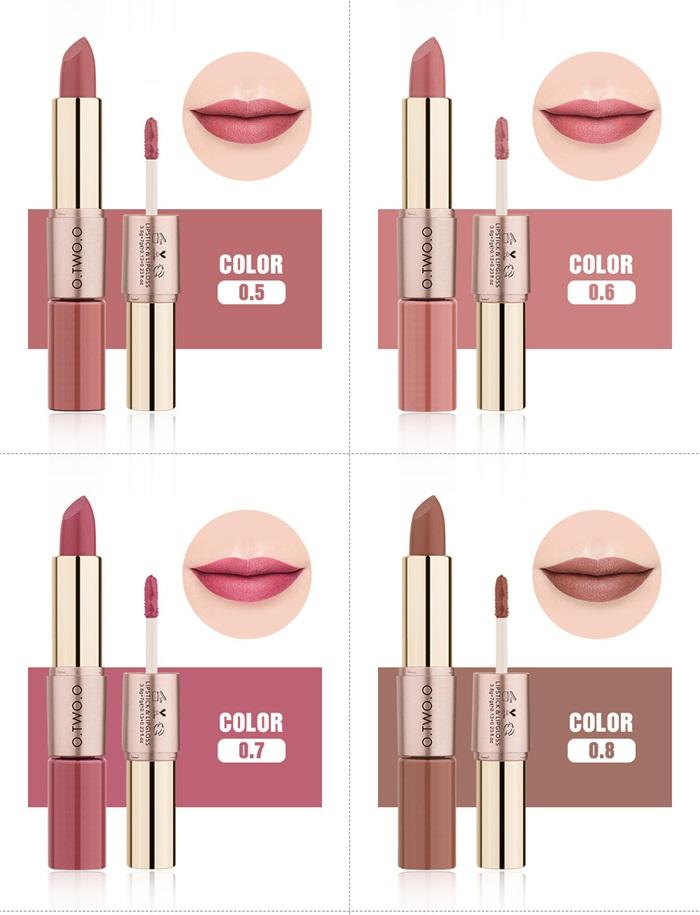 O.TWO.O Hot Make-Up Cosmetics Lipstick 12 Color Liquid Matte Lipstick Waterproof