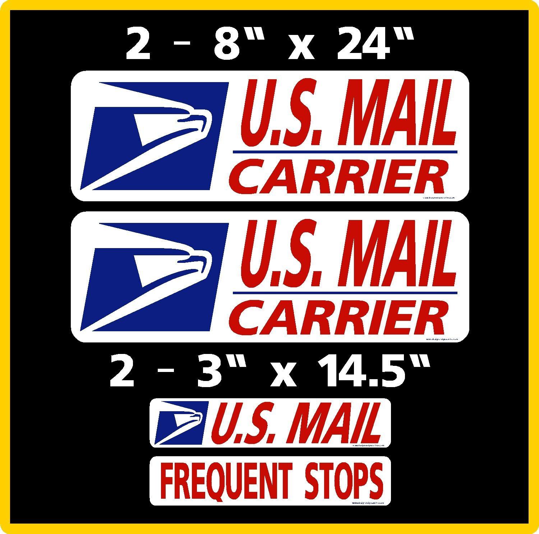"6/""X12/"" 2 U.S Mail Delivery Magnetic Sign Rural Delivery Carrier Magnet USPS"