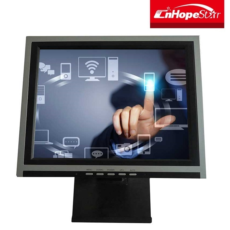 New 15'' Pos Lcd Touch Monitor 1512M Vga 5 Wire Screen Kiosk