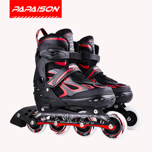 Papaison 76mm PU wheels Kids inline skates professional patin electrico shoe