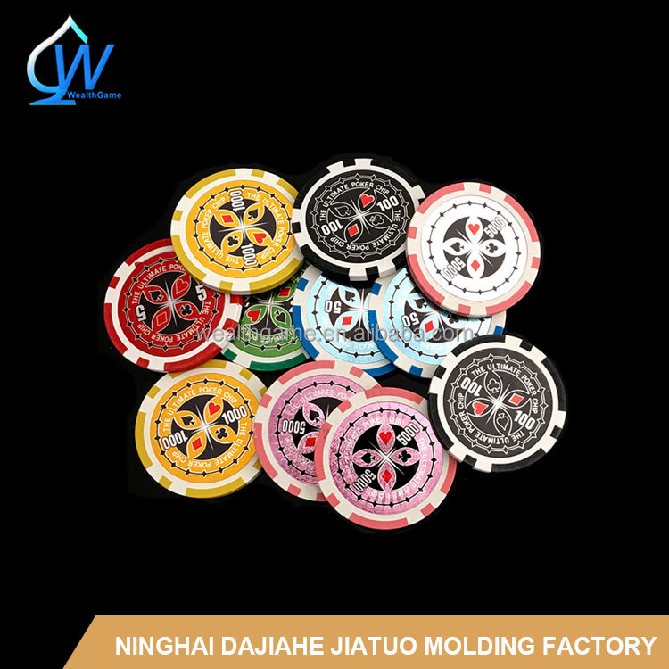 14g ultimate sticker poker chips / clay poker chip