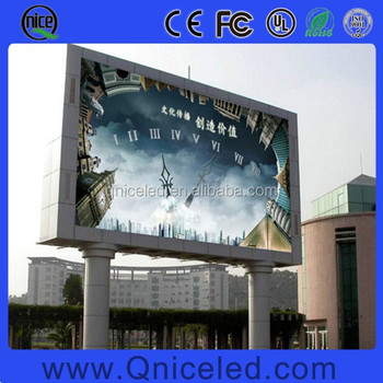 Double Pole Support Big Size Waterproof P16 Led Billboard Outdoor ...