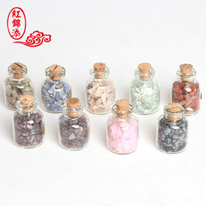 Natural Crystal Quartz Tumbled Chakra Stone in Bottle