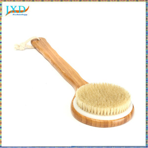 Bristle Long Handle Wooden Bath Shower Body Back Brush Spa Scrubber Soap Cleaner Exfoliating Bathroom Tools