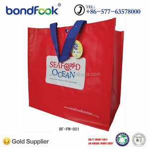Hot sale laminate bag 100% recycled mat laminate pp woven shopping bag