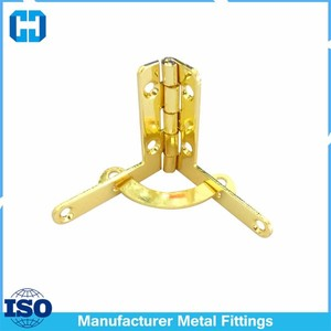 Copper Plated Metal Quadrant Hinges With Spring Lock Wholesale