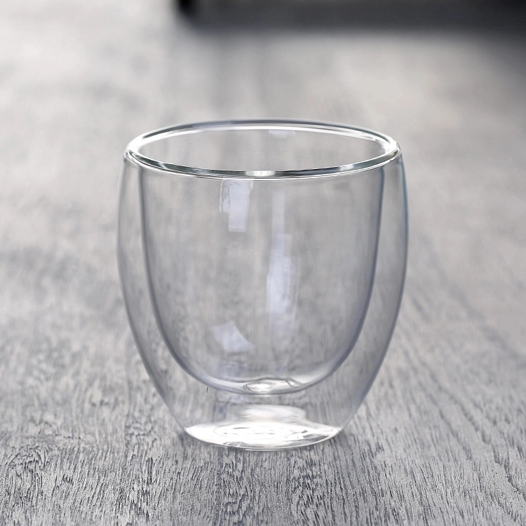 Manufacture Home Coffee High Borosilicate Cheap Thermal Double Wall Wine Glass Cup