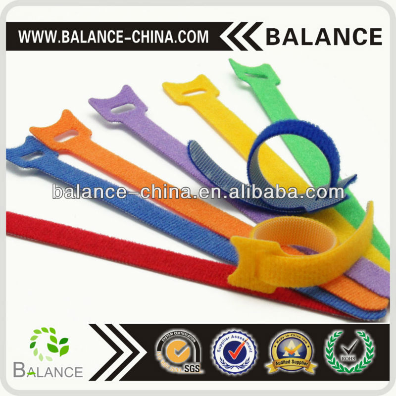 2017 colorful nylon tape hook loop fastener tape cable ties