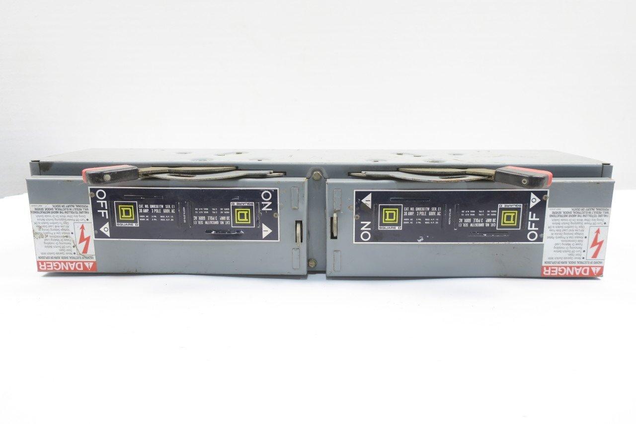 SQUARE D QMB QMB361TW 30 AMP 600V FUSIBLE PANELBOARD SWITCH SER E1