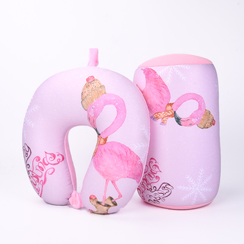 Tube Shape Microbead Pillows Printed Pink Flamingo Cushion Pillow Beads Cushions for Office