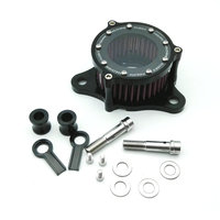 BLACK Aluminum Air Cleaner Intake Motorcycle Filter for Harley Sportster 04-up XL 883/1200
