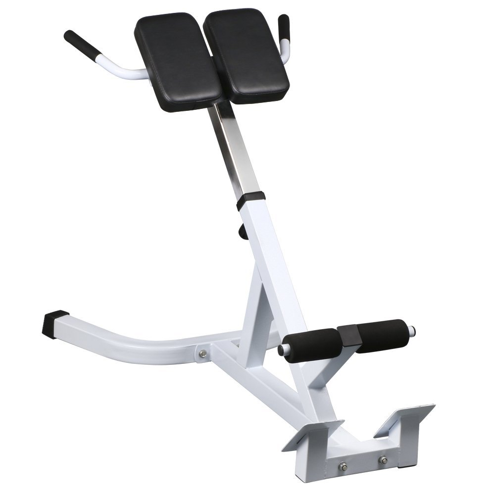 Topeakmart 45 Degree Hyperextension Roman Chair Extension Back Exercise AB Bench