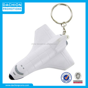 Logo printed Space Shuttle Keychain Stress Toy/Space Shuttle Keychain Stress Ball/Space Shuttle Keychain Stress Reliever