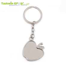 Your Own Design Apple Shape Metal Blank Keychain With Custom Logo