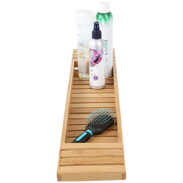 High quality natural bamboo bathtub caddy tray organizer