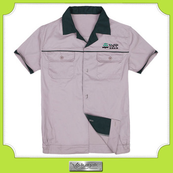 Custom summer design office uniform with your own embroidery logo