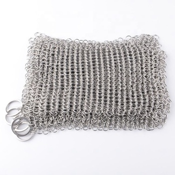 Stainless Steel Chainmail Scrubber compressed wire mesh ring