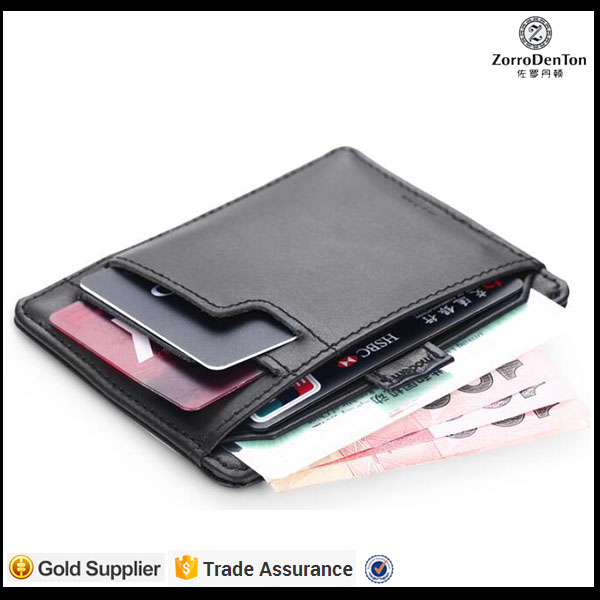customized RFID multiple super slim wallet cash money purse with card holder driver license pocket for gents/men