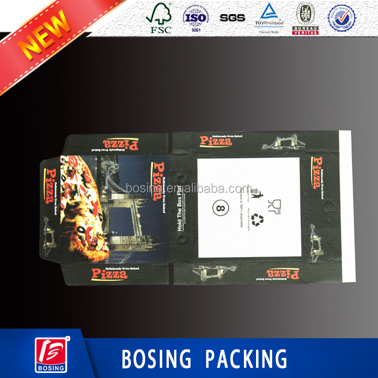 Corruagted Board Type Pizza Box/Food industrial use pizza box with plain or printing