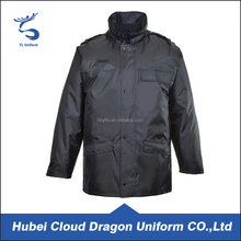 Mens trench warm security guard jacket windbreaker security winter coat
