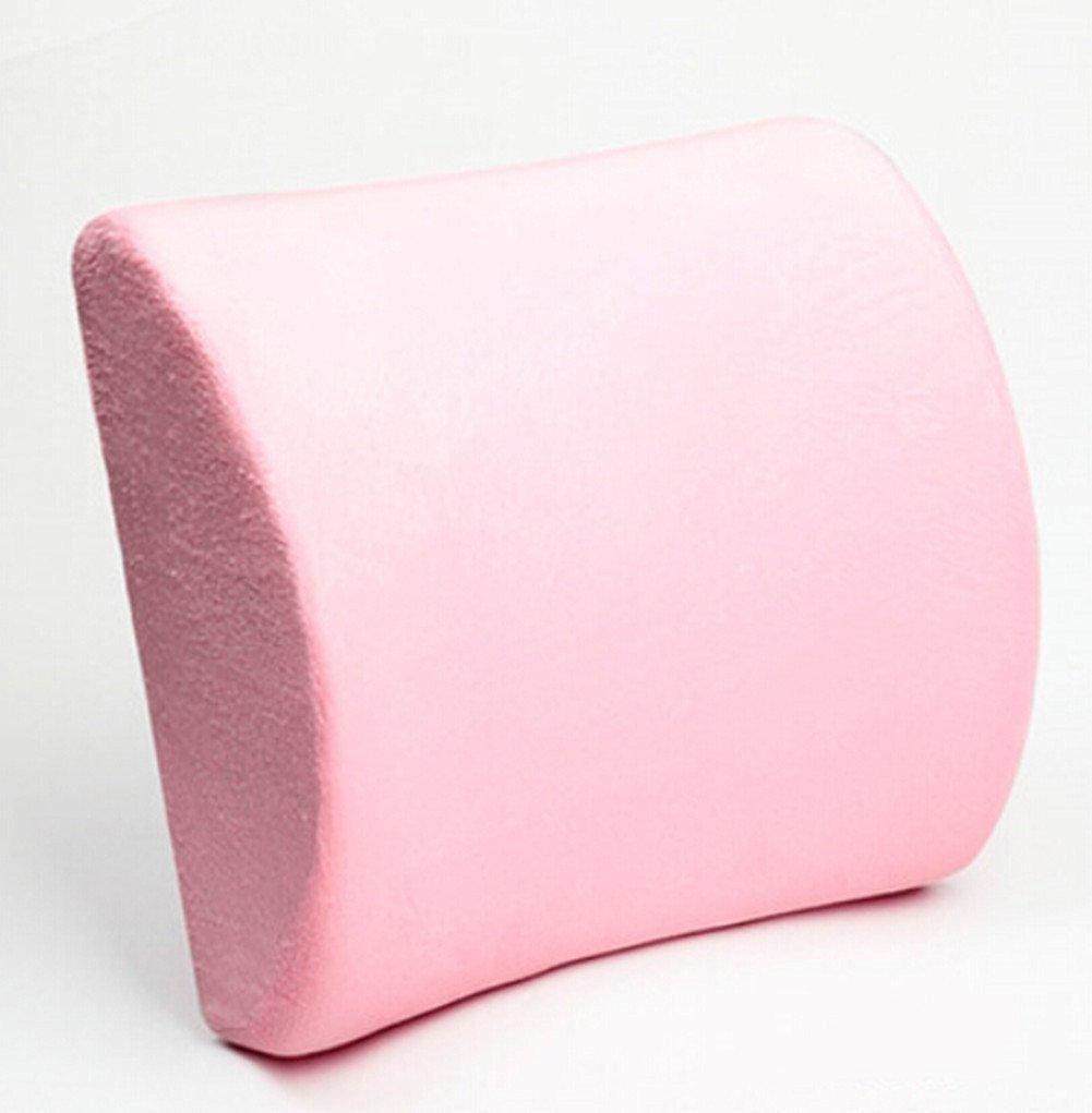 Moyishi Pink Memory Foam Seat Chair Lumbar Cushion Pillow Back Support Pad For Car Sedan Office Home