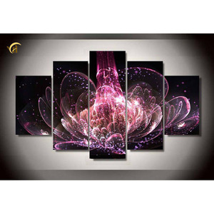 Cheap price 5pcs set flowers 5d DIY diamond painting kit for home decoration.