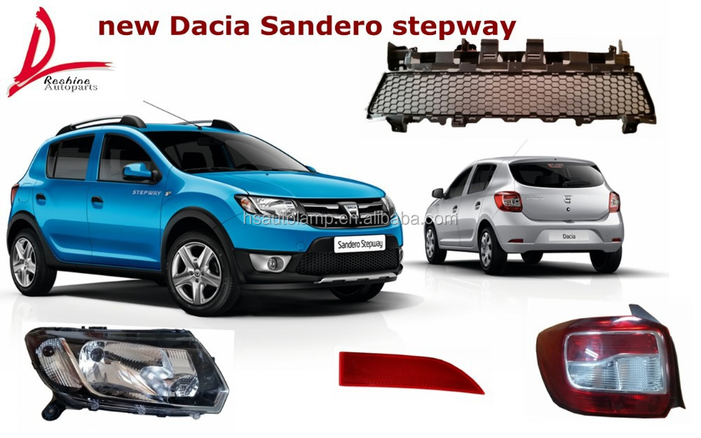 nouvelle dacia sandero stepway auto parties du corps t te lampe lampe de queue avant grille. Black Bedroom Furniture Sets. Home Design Ideas