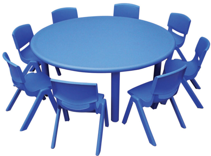 China Cheap Price Round Plastic Table And Chair Set For Kids/desk/prescholl  Furniture