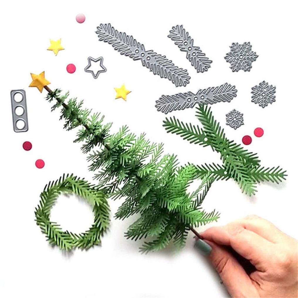 Christmas Flower Leaves Metal Cutting Dies DIY Craft Paper Card Making Embossing