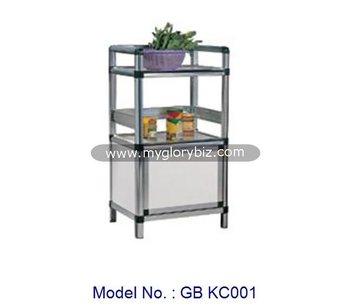 Aluminium Dapur Kabinet Furniture Desain Modern Terjangkau Rak