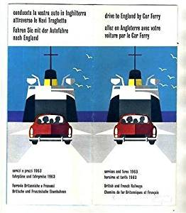 Drive to England by Car Ferry Brochure 1963 Fares Routes Schedules
