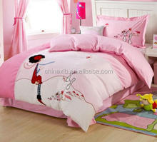 New crystal velvet pattern bed sheet designs embroided quilt sets luxury bedding comforter