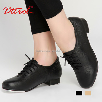 D004725 Dttrol dance tan black oxford tap shoes