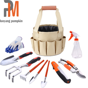Hot Selling 10 Piece Garden Tools Set With Bag including Pruning Tool