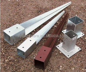 Hot dipped Galvanized Fence Post Support