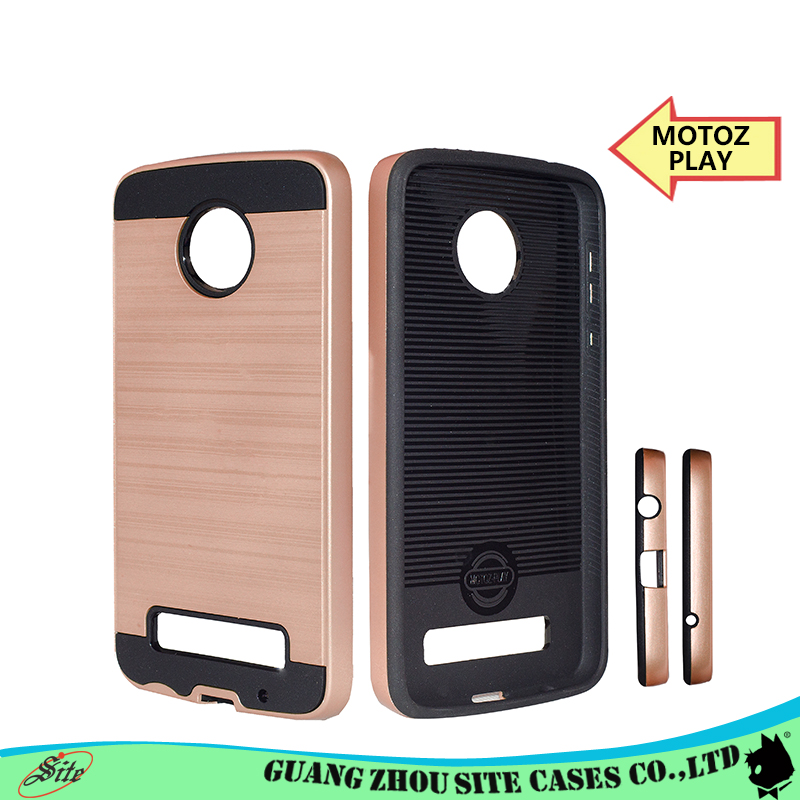 Tpu pc slim fit mobile phone cover with wire drawing phone case for MOTE Z PLAY case