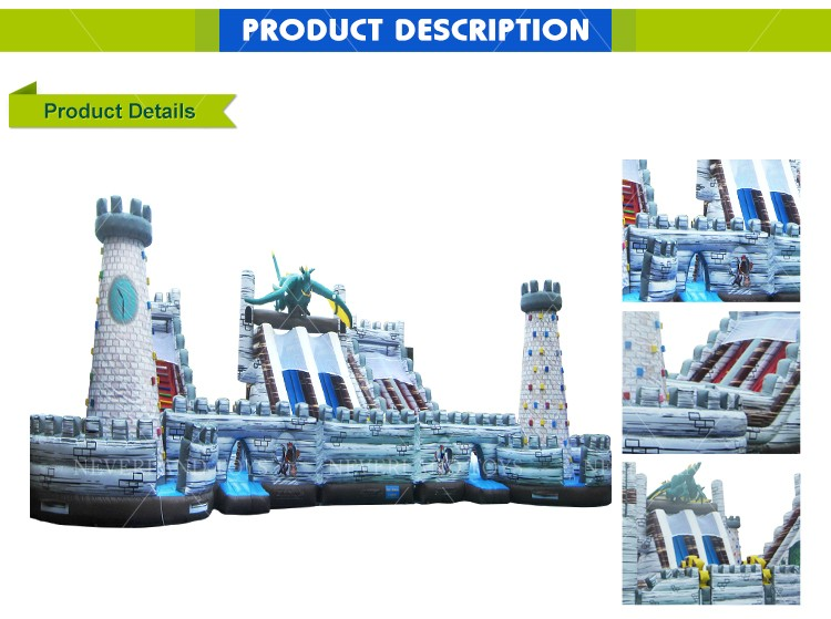NEVERLAND TOYS Pop  Inflatable Dinosaur Combo with Climbing Wall & Slide High Quality for Sale