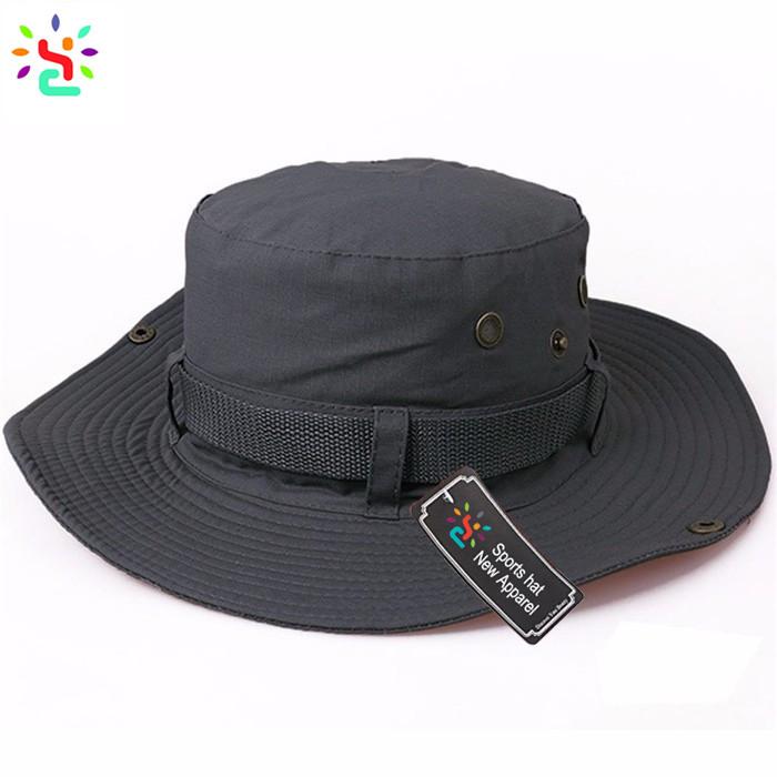 d019a7c6c8c5e Classic fishing hat cap summer UV protection hats plain sun cap unisex boonie  hats and caps