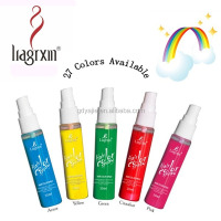 30ml OEM Hair Spray Colours With 27 Colorful Tints Single-use For Party