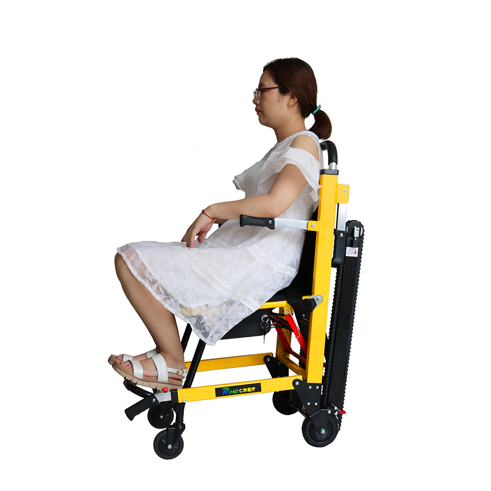 elder people use battery climbing vehicle electric stair chair