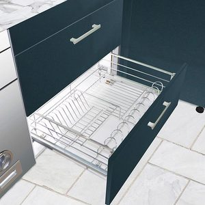 Kitchen dishes storage modular wire basket pull out kitchen fittings