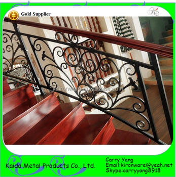 Factory Price Wrought Iron Decorative Interior Railings For Hotels