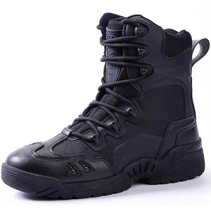 cz38071a High quality men outdoor hunting shoes military boots genuine leather waterproof winter tactical army boots