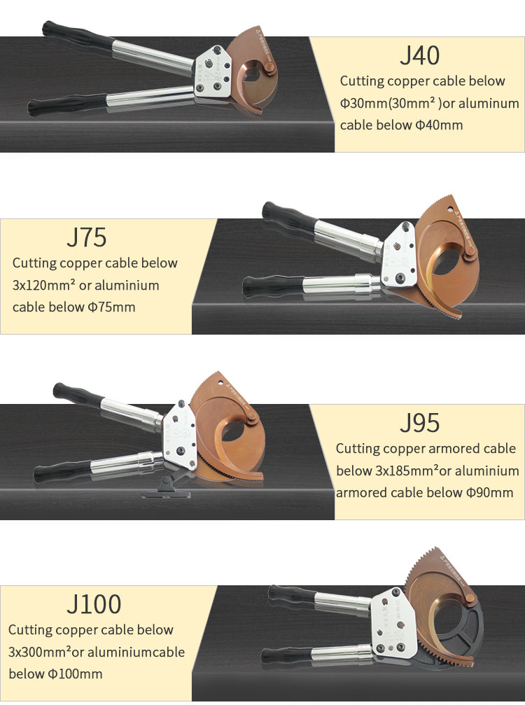 different types of ratchet cable cutter