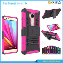 Consumer electronics Heavy duty 3 in 1 belt clip holster case for huawei honor 5x