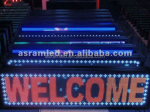 CE and RoHS passed bus led moving message display sign with red color and high brightness