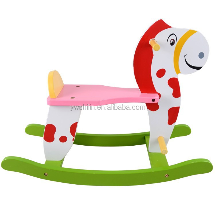 2015 new design wooden horse for kids